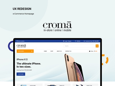 Redesign the concept of Croma - e-Commerce website