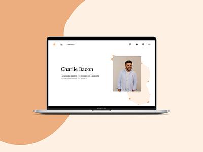Charlie Bacon | Portfolio ui designs ui design challenge digital digitaldesign portfolio website website design personal profile portfolio ui design daily ux ui ux design ui design ui designer