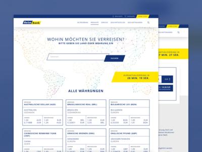 ReiseBank Relaunch symfony magento shop relaunch minimal gold yellow blue clean website reisebank