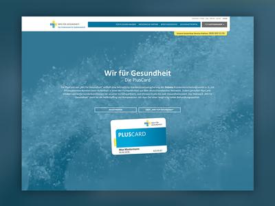 Wir für gesundheit ux ui card blue clean website webdesign portal healthcare
