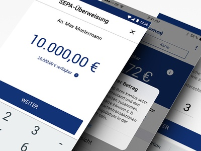 Online Banking App money blue bank online banking iphone android app ui ux