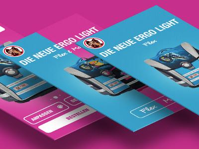 School bag website mockup school school bag bag pink blue rwd ui ux