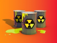 Low Poly Toxic Waste