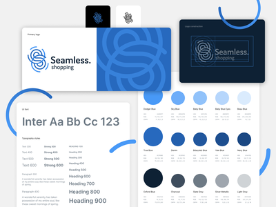 Seamless.shopping clean minimal styles typography ui styleguide style guide logobook pattern library library guidelines guide design system components color palette branding logo design logo