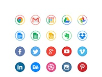 Circle color icons by michal waclaw kulesza 01