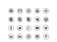 Circle black icons by michal waclaw kulesza 01
