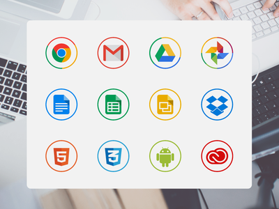 Free circle icons for designers glyphs site icons color freebie free set vector design webdesign icon flat