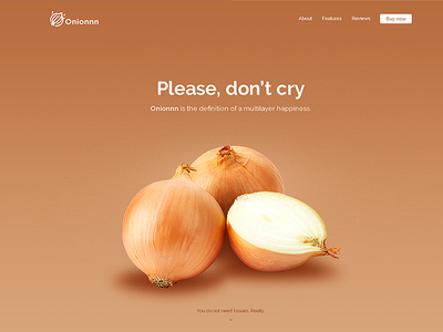 Onionnn landing page clean landing page minimal onion simple ui web web design product website