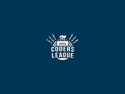 Coders League geek hack symbol illustration icon identity brand simple hackathon developer coder logo