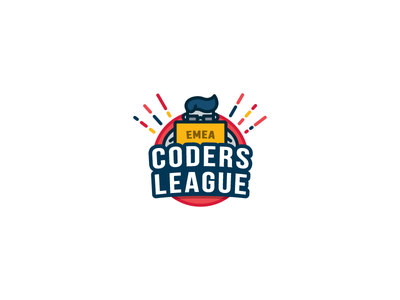 Coders League logo coder developer hackathon simple brand identity icon illustration symbol hack geek