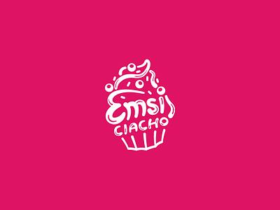 Emsi Ciacho dream vector typography illustration food cookie sweet cupcake symbol identity brand logo