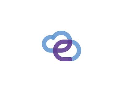 Elastic logo brand identity symbol cloud app web design intranet one-line transparent software