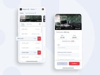 Booking app app application ui ux mobile booking reservation wip figma interface clean simple