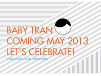 Tran Baby Shower Invite