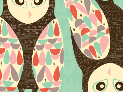 🦉Owl Have What She's Having 🦉 minimal ipad pattern drawing flat illustration vector hand drawn illustrator color graphic design design illustration