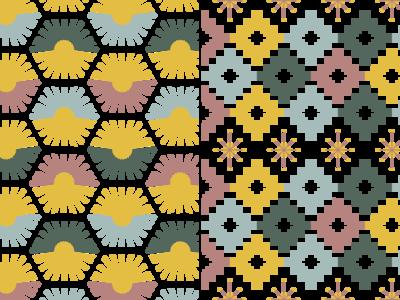 🌞Seven Deadly Suns 🌞 branding app ux ui minimal textile design textiles textile geometric pattern making pattern drawing flat illustration vector hand drawn illustrator color graphic design design illustration