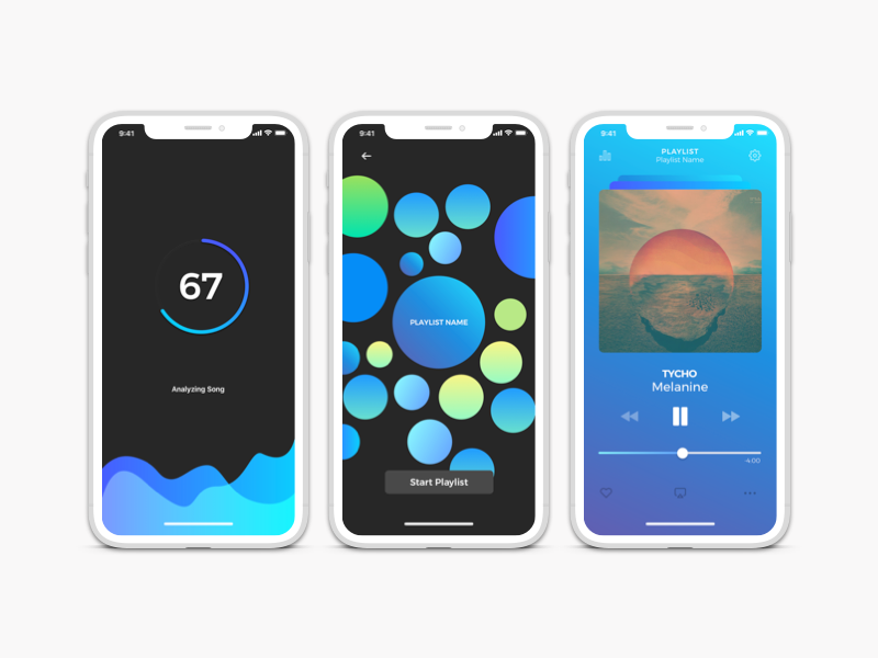 Mood (Music Playlist Concept App) tyco colors mood playlist music product new creative page landing design app