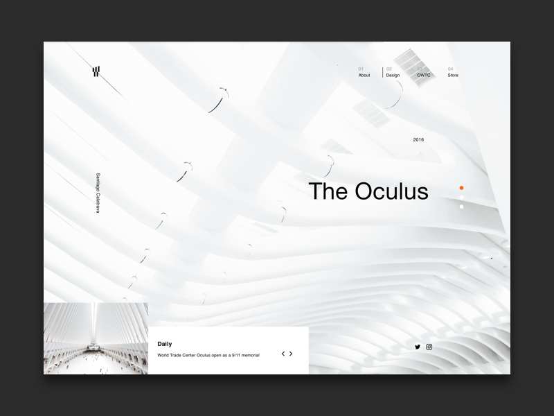 The Oculus NYC Landing Page (Concept) sketch web concept page landing newyork nyc oculus