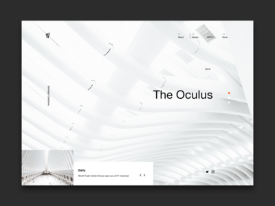 The Oculus NYC Landing Page (Concept)