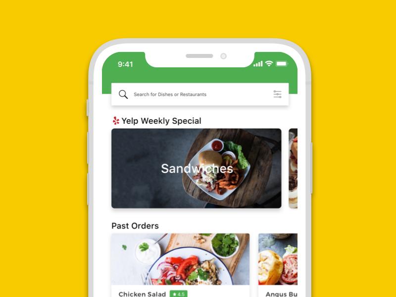 Bite Squad App Redesign (Concept) iphonex ui ux app delivery food sketch iphone ios squad bite