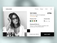 Sunglasses Cart Page