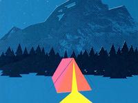 Camping Screenprint