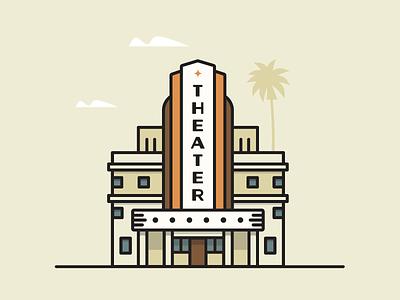 Vintage Theater vintage theater theater building art deco
