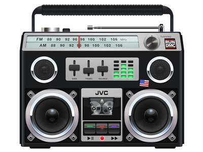 Boom Boxey  electronics gadgets 1980s boombox