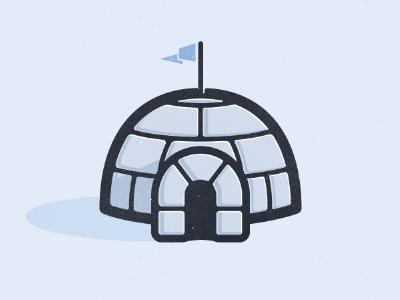 Igloo igloo snow winter antartica santa flag cold freezing