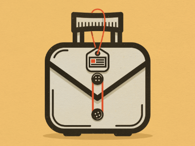 Briefcase briefcase badge id badge suitcase buttons havana