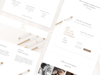 Website Landing Page nudepalette nude classy elegant website web design voting poll voting smoking minimal luxury light landing page landing gold fashion design consumer goods clean branding