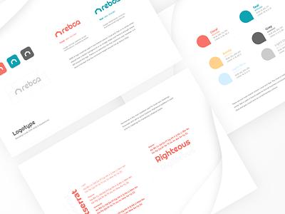 REBCA Branding Guidelines visual design minimal presentation logo design logo branding guidelines branding