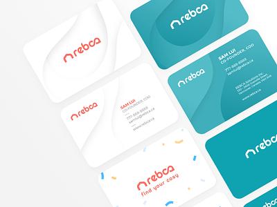 REBCA Branding – Business Cards minimal branding and identity branding concept branding design businesscards branding