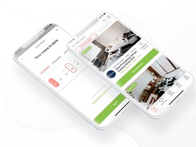 Rental App UI ui startup proptech ios app design app minimal app ui