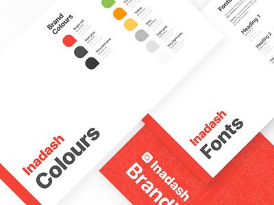Inadash Branding Guide minimal branding guidelines branding and identity branding startup proptech