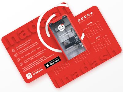 Inadash Merch calendar 2019 calendar merchandise branding and identity branding proptech