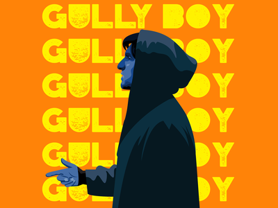 Gully Boy vector ranveersingh rap rapper movie movieposter graphicdesign illustration hiphop gullyboy bollywood
