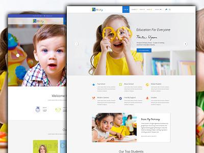 Primary HTML Template for Themeforest html business themeforest template kindergarten website primary school website html template