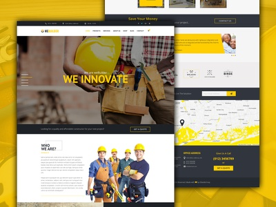Construction PSD Template - weBuilder plumber multipurpose industry construction company clean business building blog architecture architects