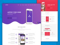 App Landing Page PSD Template | APPSY