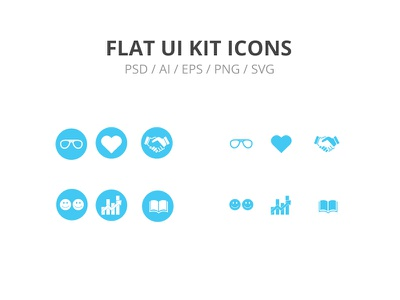 Flat UI KIT ICONS education growth relationship integrity commitment experience icons ui kit flat