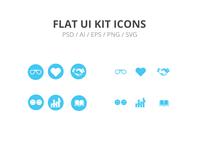 Flat UI KIT ICONS