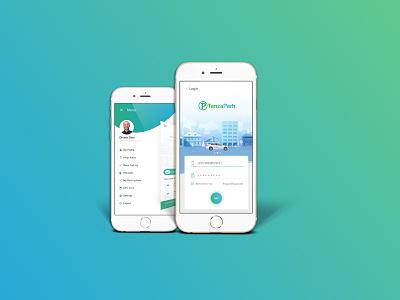 TanzaPark App planning building car parking ui design app
