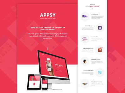 Web Template Details Presentation | Appsy wethemez html mock-up apps showcase presentation template web