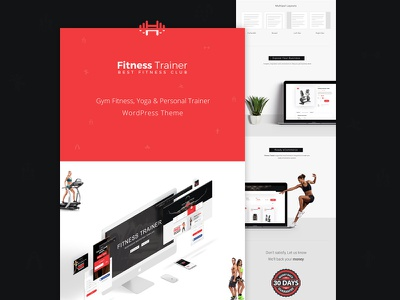 WP Theme Presentation Graphics | Fitness Trainer e-plugins web template showcase presentation graphic mock-up wp html trainer fitness