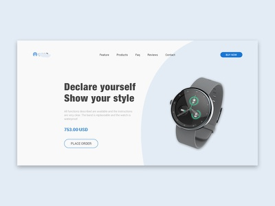 Product Landing Page Concept shopping e-commerce minimalistic web visual design ui simple product page clean sass review landing page