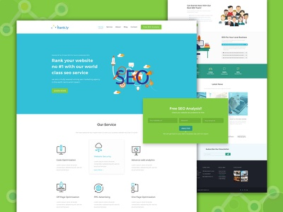 SEO agency web layout psd ux agency ui web seo