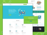 SEO agency web layout