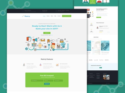 SEO agency web template agency blog business clean corporate creative creative design seo web ui ux psd