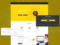 Cryptocurrency Web Template Design
